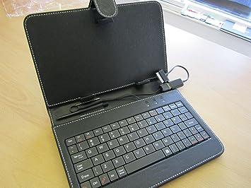 Funda de piel sintética para teclado Samsung Galaxy Tab 2 GT ...