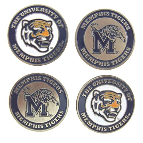 858d1ba61fb Amazon.com   Memphis Tigers Golf Ball Markers (Set of 4)   Sports ...