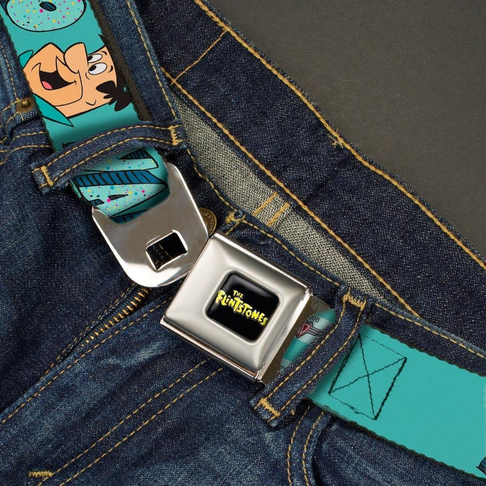 32-52 Inches in Length 1.5 Wide Fred Face YABBA DABBA DOO Blues Buckle-Down Seatbelt Belt
