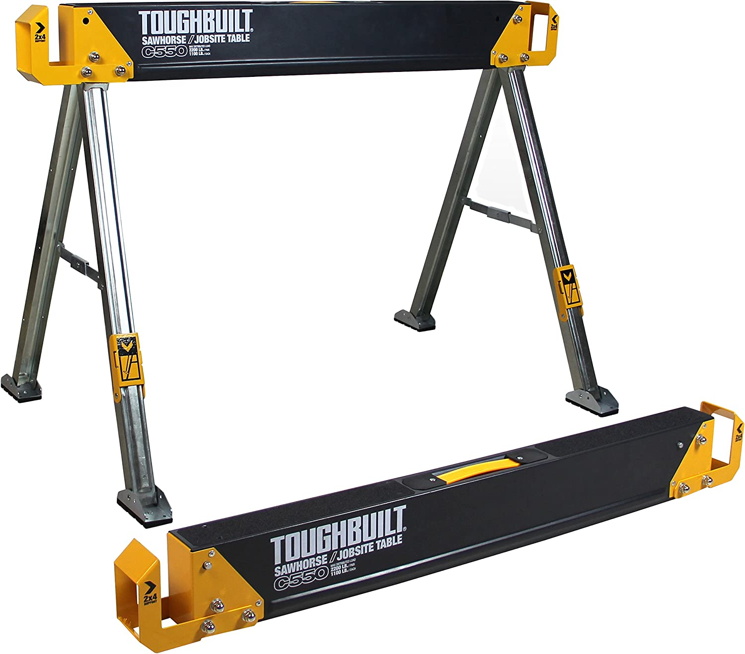 Toughbuilt TOU-C550 Scie Cheval Chantier Chevalet Table