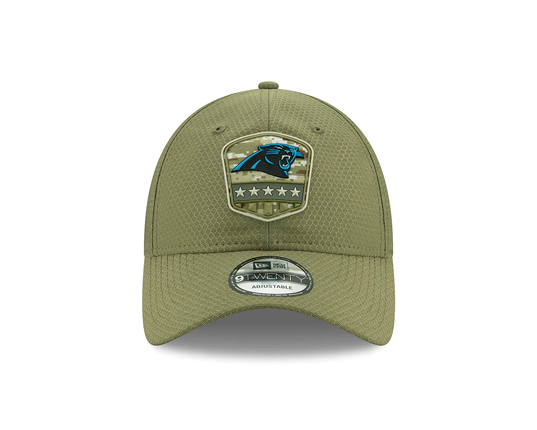 New Era Carolina Panthers 9twenty Adjustable Cap On Field 2019 Salute To Service