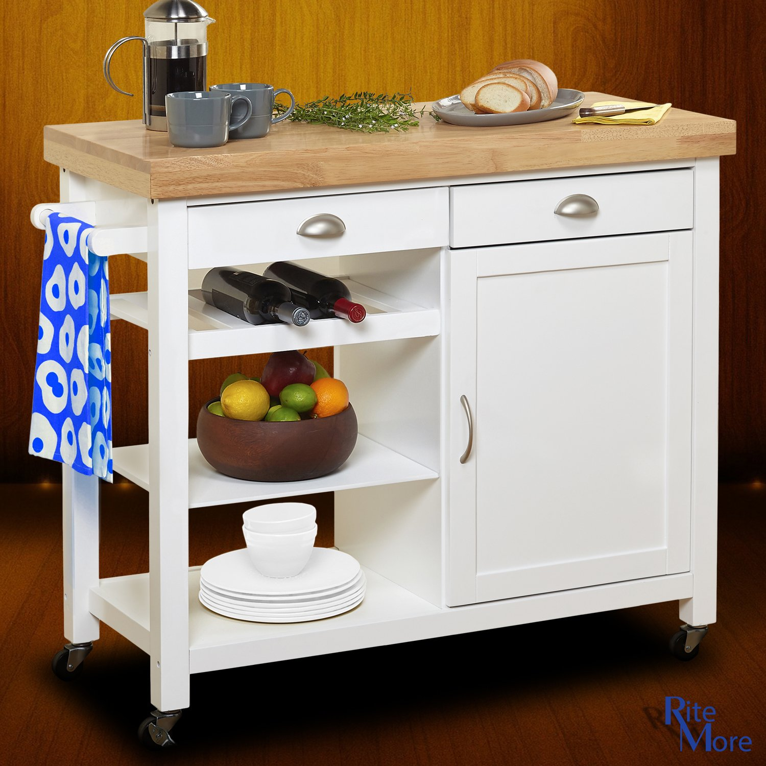 8 Kitchen Island: Kitchen Islands With Breakfast Bar: Amazon.com