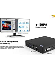 Beelink Z83-V Mini PC Ordenador de sobremesa Soporte Windows 10 Home Sistema, 4GB RAM 64GB ROM, Intel Atom x5-Z8350 Procesador, Dual-Band WiFi, 1000 Mbps LAN, 4K, con Puertos HDMI/USB 3.0/VGA
