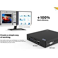 Beelink Z83-V Mini PC Support Windows 10, Intel Atom x5-Z8350 Processor 4GB Ram 64GB Rom Graphics HD 400, 1000Mbps LAN 4K MINI Computer con 5.8G+2.4G WiFi/Bluetooth 4.0/USB 3.0/HDMI+VGA Outputs