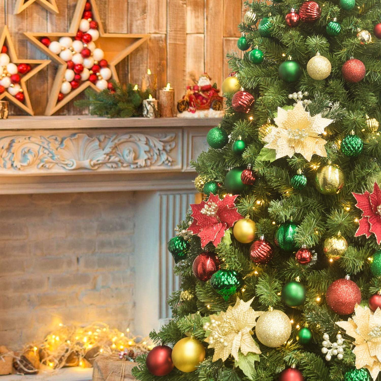 20 palle infrangibili per decorazioni natalizie da appendere festival e vacanze decorazioni per albero di Natale KI Store palline di Natale verdi da 80 mm