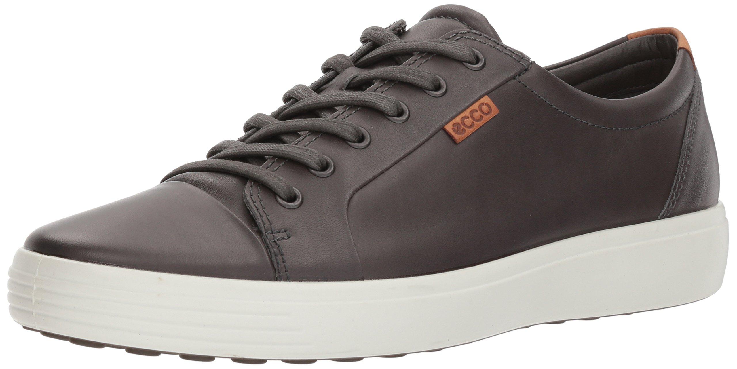 ECCO Men's Soft 7 Fashion Sneaker, Magnet, 39 EU/5-5.5 M US