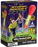 Stomp Rocket Ultra LED Stomp Powered Air Rockets with Launcher, 4 Pieces