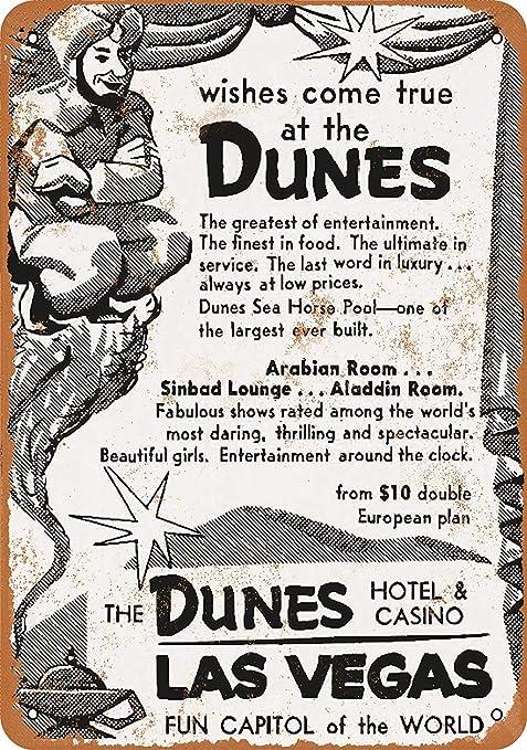 Dunes Hotel & Casino Las Vegas Póster De Pared Metal Retro ...