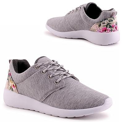 schön und charmant süß Neupreis IL Shoes Damen Sneaker Blumen Print Sportschuhe Lauf Turnschuhe Schuhe