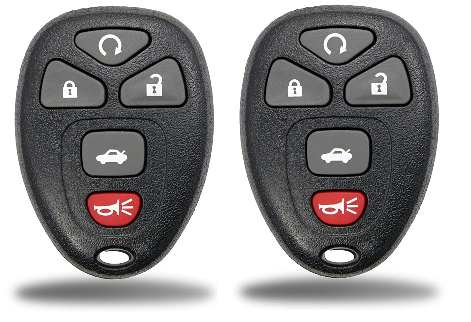 KeylessCanada © 2 New Keyless Entry 5 Button Remote Start Car Key Fob Shell Case for Select GM Chevrolet Buick Pontiac & Saturn FCC KOBGT04A 22733524 - Shell Only (2 Pack)