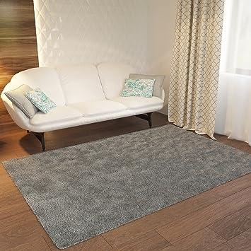 Amazon Com Grey Plain Solid Shag Area Rug Solid Color 3 3 X 5 3