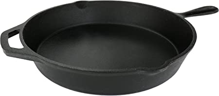 Pre Seasoned Cast Iron Skillet 12.5 inch
