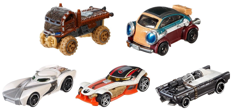 Mattel Hot Wheels djp17 –  Modè les de transport, Star Wars Hé ros de la ré sistance Lot de 5 Star Wars Héros de la résistance Lot de 5
