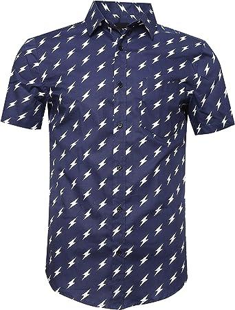 SOOPO Camisa Hombre Shirt de Manga Corta Estampados de Estrellas de Colores para Hombre, Camiseta Bonita y Cómoda para Verano, Diversos Colores y Tallas: Amazon.es: Ropa y accesorios