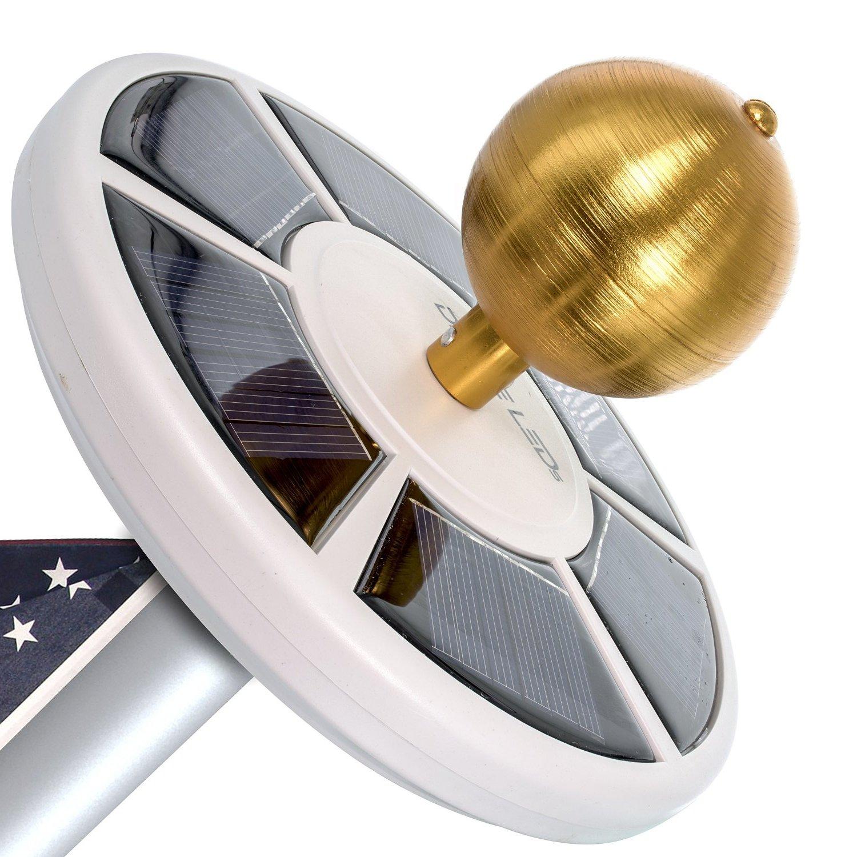 Solar Flag Pole Flagpole Light, Energy Saving LEDs, Long Battery Life, Full Illumunation Vont