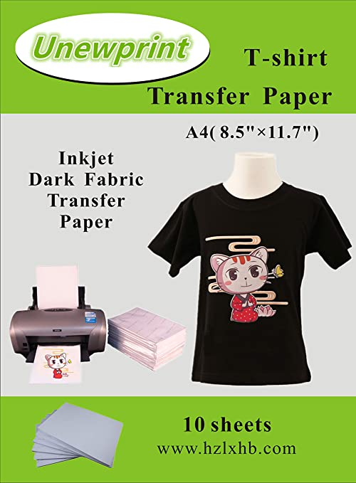 30 sheets A4 Inkjet  Iron on Heat Transfer Paper Dark Color Cotton T-shirt