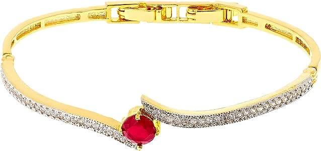 Aurora Women's Ruby Charm Bracelet