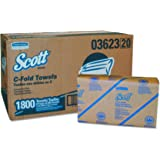 Scott 03623 C-Fold Paper Towels, Convenience Pack, 10 1/8w x 13 3/20l, White, Pack of 200 (Case of 9 Packs)