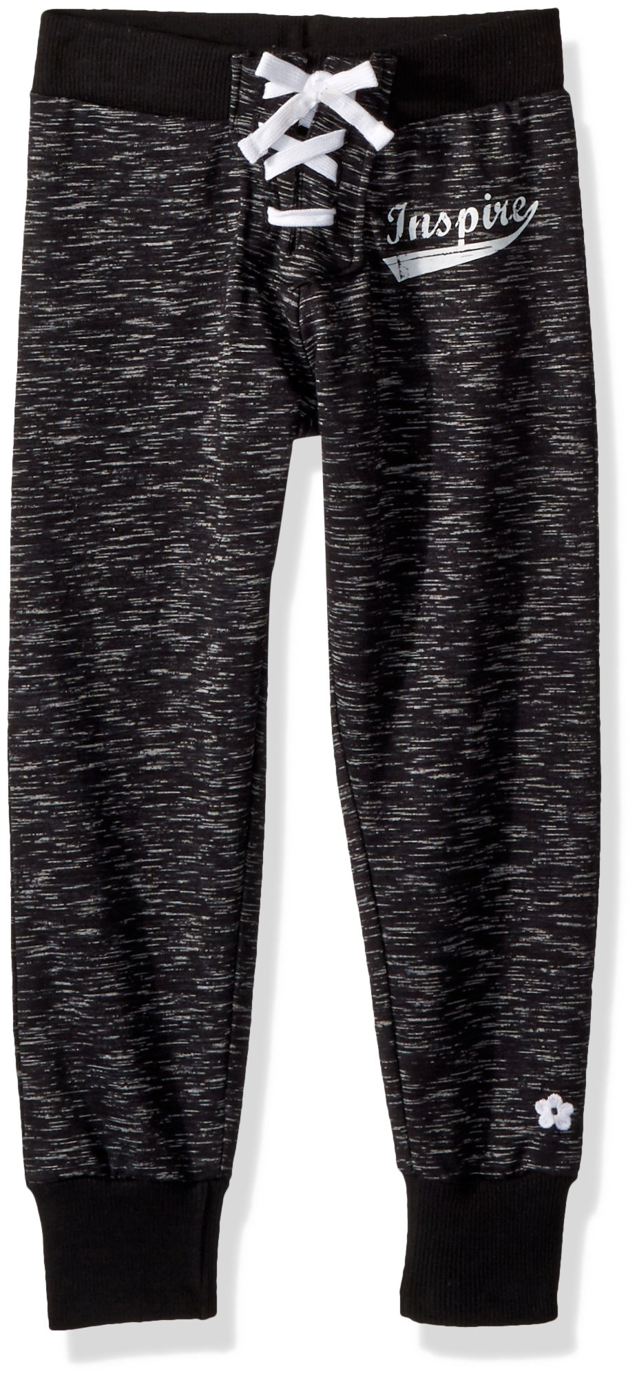 Limited Too Big Girls' Jogger, Lace up Black, 7/8