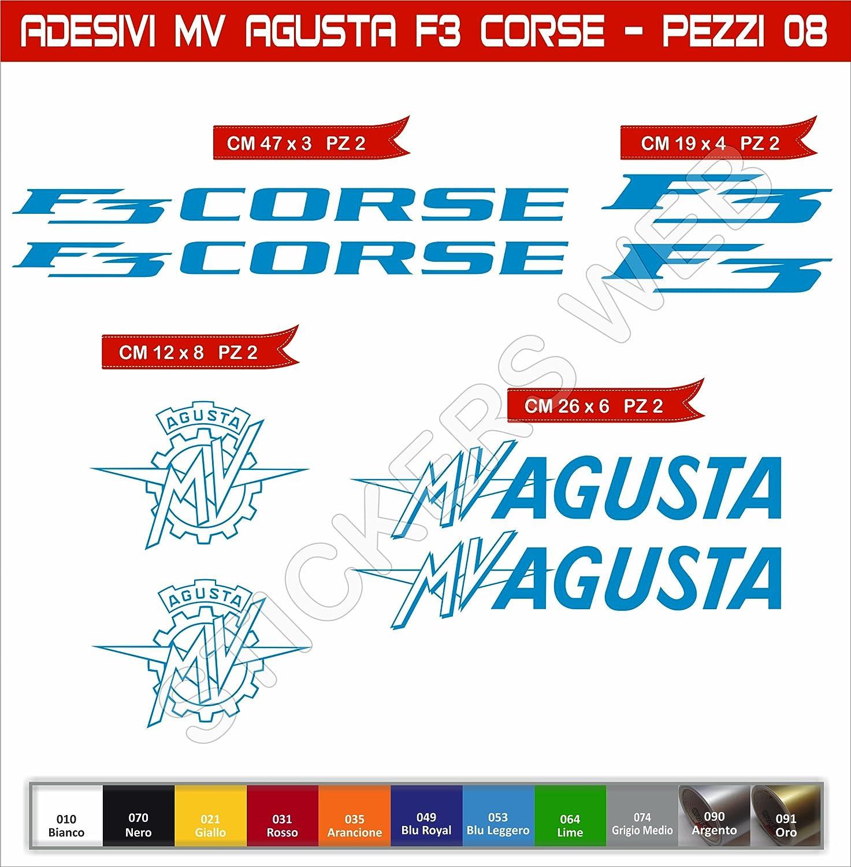 Motocicletas Pimastickerslab Pegatinas Adhesivos MV Agusta F3 Corse para Motos Cod.0580