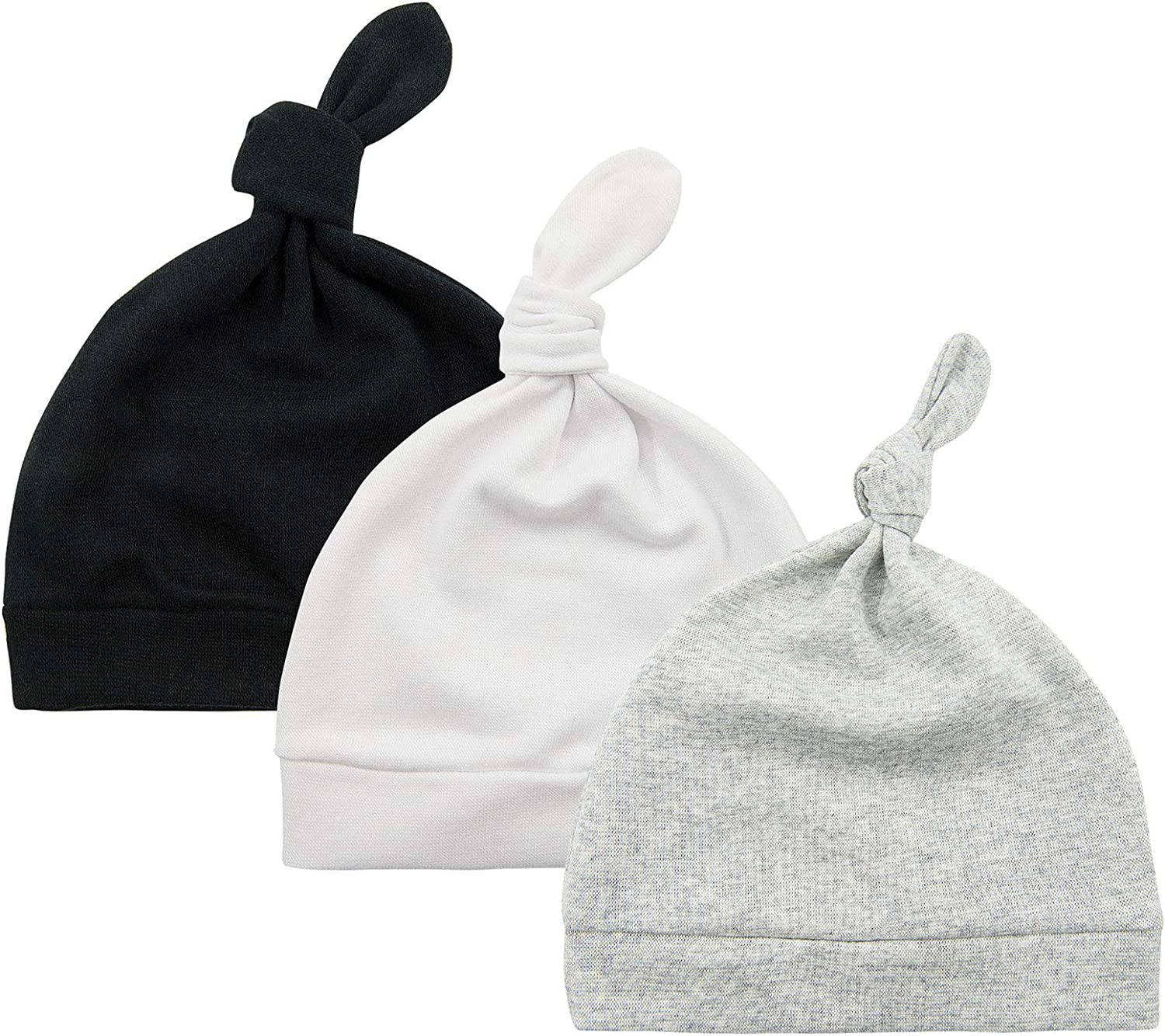 Baby Hats Newborn 0-6 Months New Born Beanie Knot Boy and Girl Unisex Hat Gifts for Hospital Infant Caps