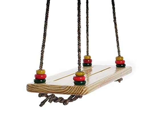 CuddlyCoo Wooden Board Swing for Home and Garden
