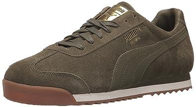 6f5dd50e1fb62e PUMA Men s Roma Natural Warmth Sneaker Olive Night-Whisper White 7.5 ...