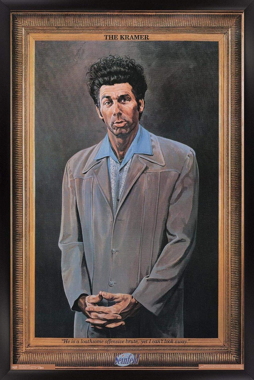 "Trends International Seinfeld - Kramer Wall Poster, 22.375"" x 34"", Black Framed Version"