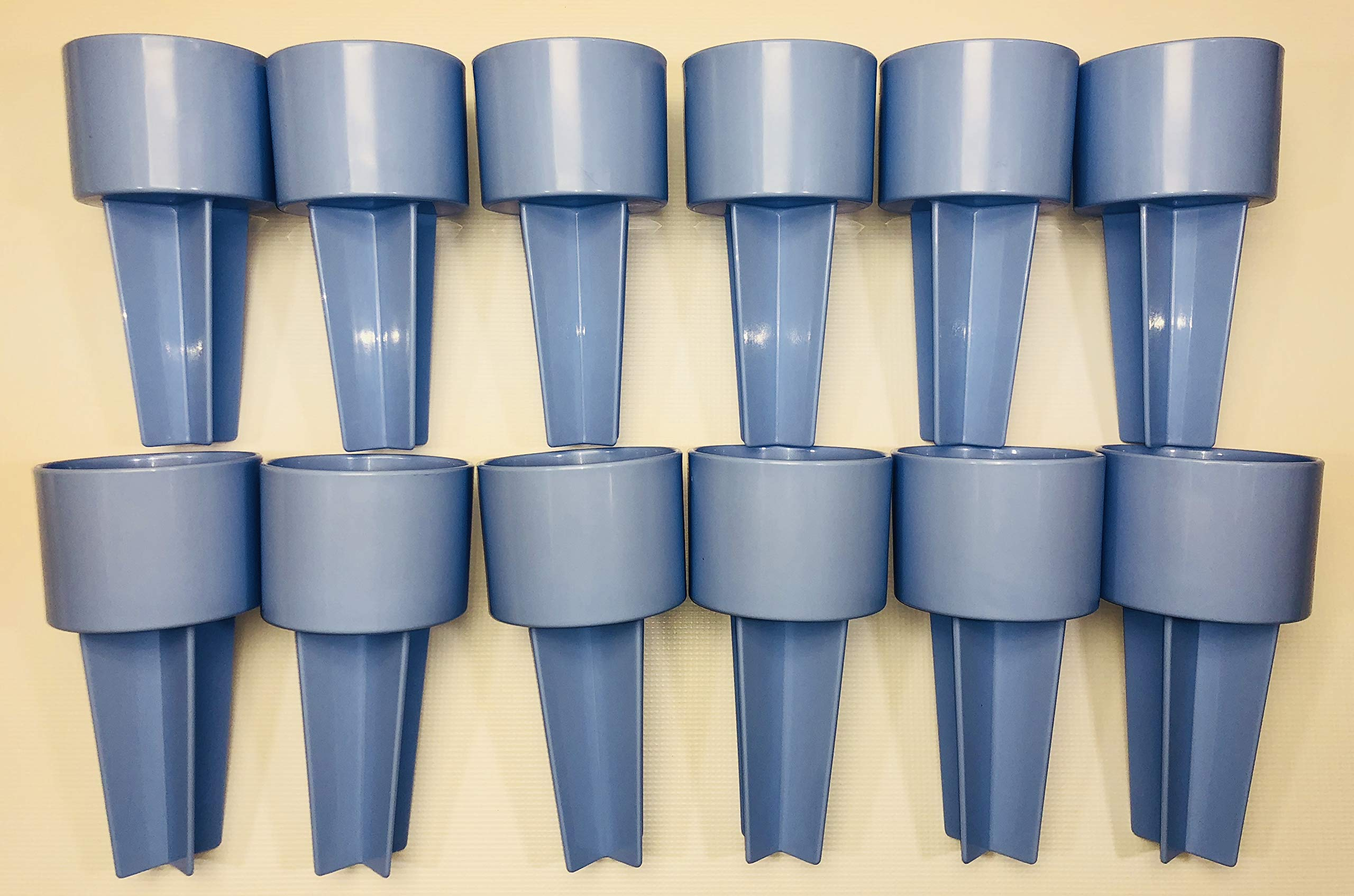 SPIKER Lifestyle Holder: for the beach & sofa: holds drinks & more. Set of 12 in CAROLINA BLUE color, decorate as you wish
