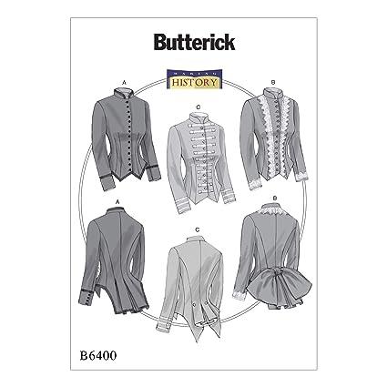 Butterick Patterns MCCALL  s Patterns Butterick 6400 A5 – Patrones de  Costura para Disfraz ec0d8835338ae