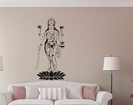 Buy Godess Lakshmi MATA Black Wall Sticker And Wallpaper Size59