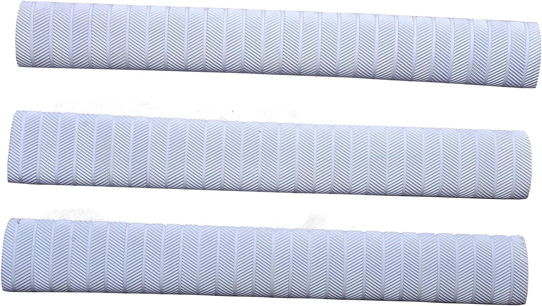 AllsBalls Cricket Bat Grip Pyramid Light White Pack of 3