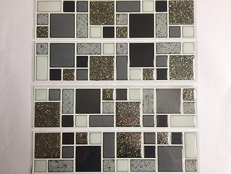 Adesivi a mosaico glitterato design piastrelle amazon fai da te