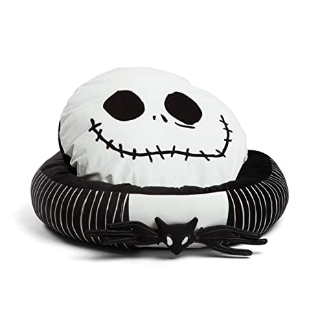 disney nightmare before christmas jack skellington bolstered round bumper dog bed cat bed with removable