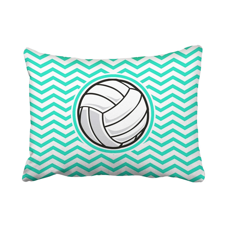 Amazon.com: emvency fundas de almohada Vintage voleibol Aqua ...