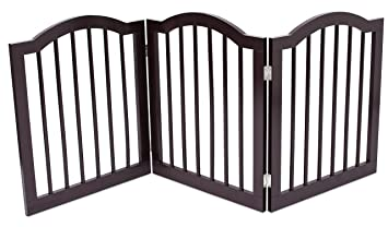 Amazon.com: Internet\'s Best Pet Gate with Arched Top | 3 Panel | 24 ...