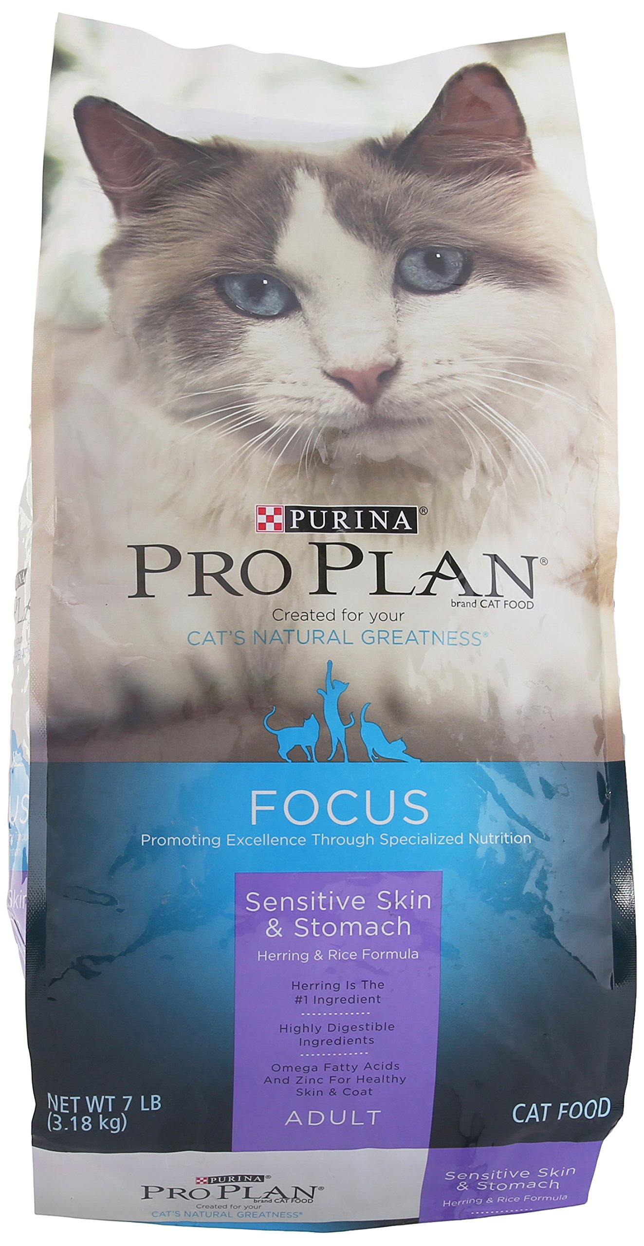 Purina Pro Plan Dry Sensitive Skin and Stomach Herring Food, 7 lb.