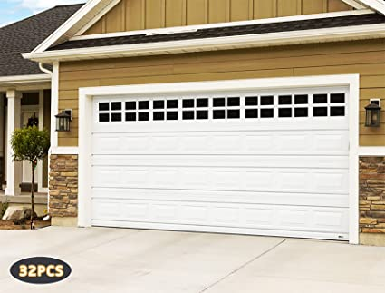 32Pack6u201dx 4u201d Magnetic Garage Door Faux Windows