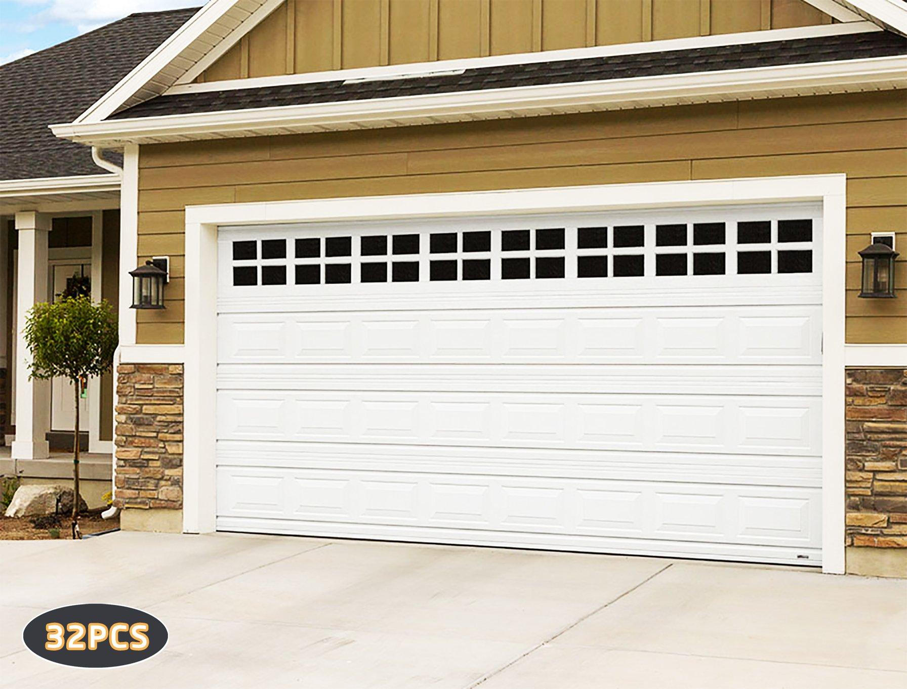Details About Any Beauty 32 Pack Magnetic Garage Door Faux Windows(5 3/4u201d X  3 3/4), Black,