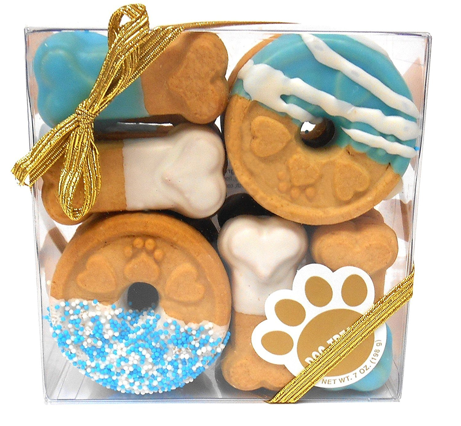 Claudia'S Canine Cuisine Signature Gift Box Of Dog Cookies, 7-Ounce, Blue Buddies 1