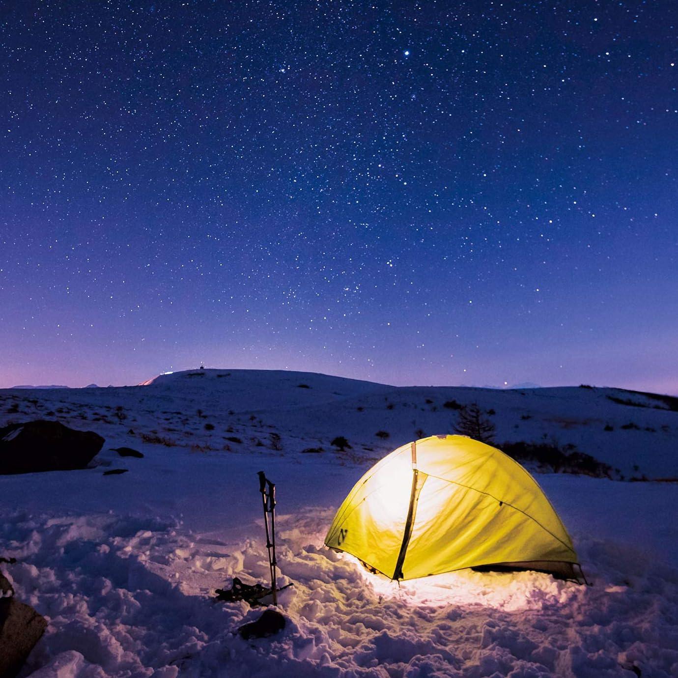 星空 Ipad壁紙 真冬の星空を楽しむ雪原キャンプ その他 スマホ用画像145407