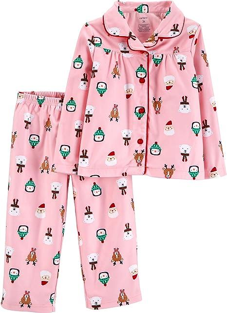 4t Carters 2t-4t I Love Santa 2 Pc Girls Pajama Set