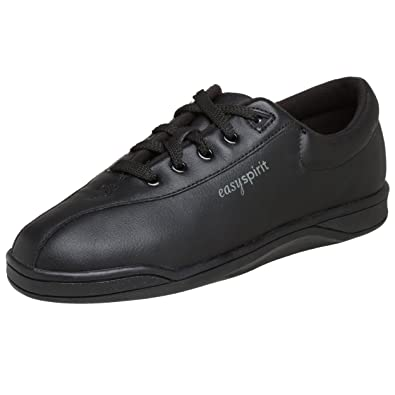 Easy Spirit AP1 Sport Walking Shoe, Black Leather, 6 D