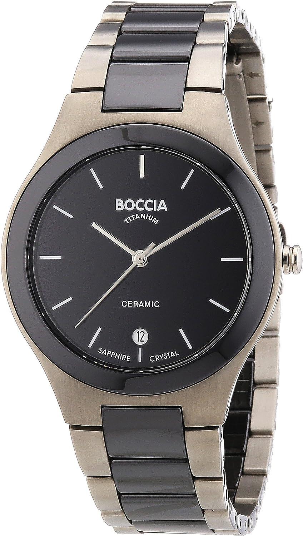Boccia Reloj Analógico de Cuarzo para Hombre con Correa de Cerámica – 3564-02