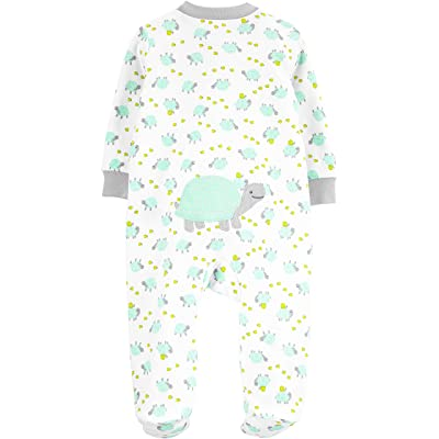 MIXIA Unisex Baby Cotton Pajamas Newborn Baby Clothes Footed Bodysuit Sleep and Play Boys and Girls