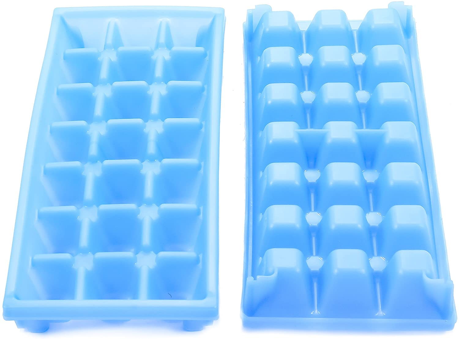 Camco Stackable Miniature Ice Cube Tray for Mini Fridges, RV/Marine, Dorm Small Freezers, (2 Pack) (44100), Blue