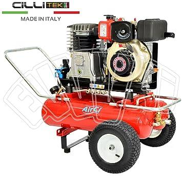 4,7 HP - Diesel - motocompressore - 2 x 22 Lt - Compresor Aire recoger aceitunas: Amazon.es: Bricolaje y herramientas