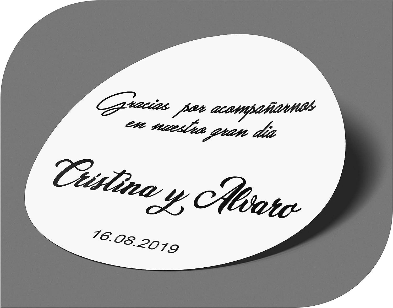CrisPhy Adesivi Personalizzati per Matrimonio con Nome e Data Compleanno Festa Etichette adesive per invito Matrimonio Vintage Natale Fidanzamento Battesimo