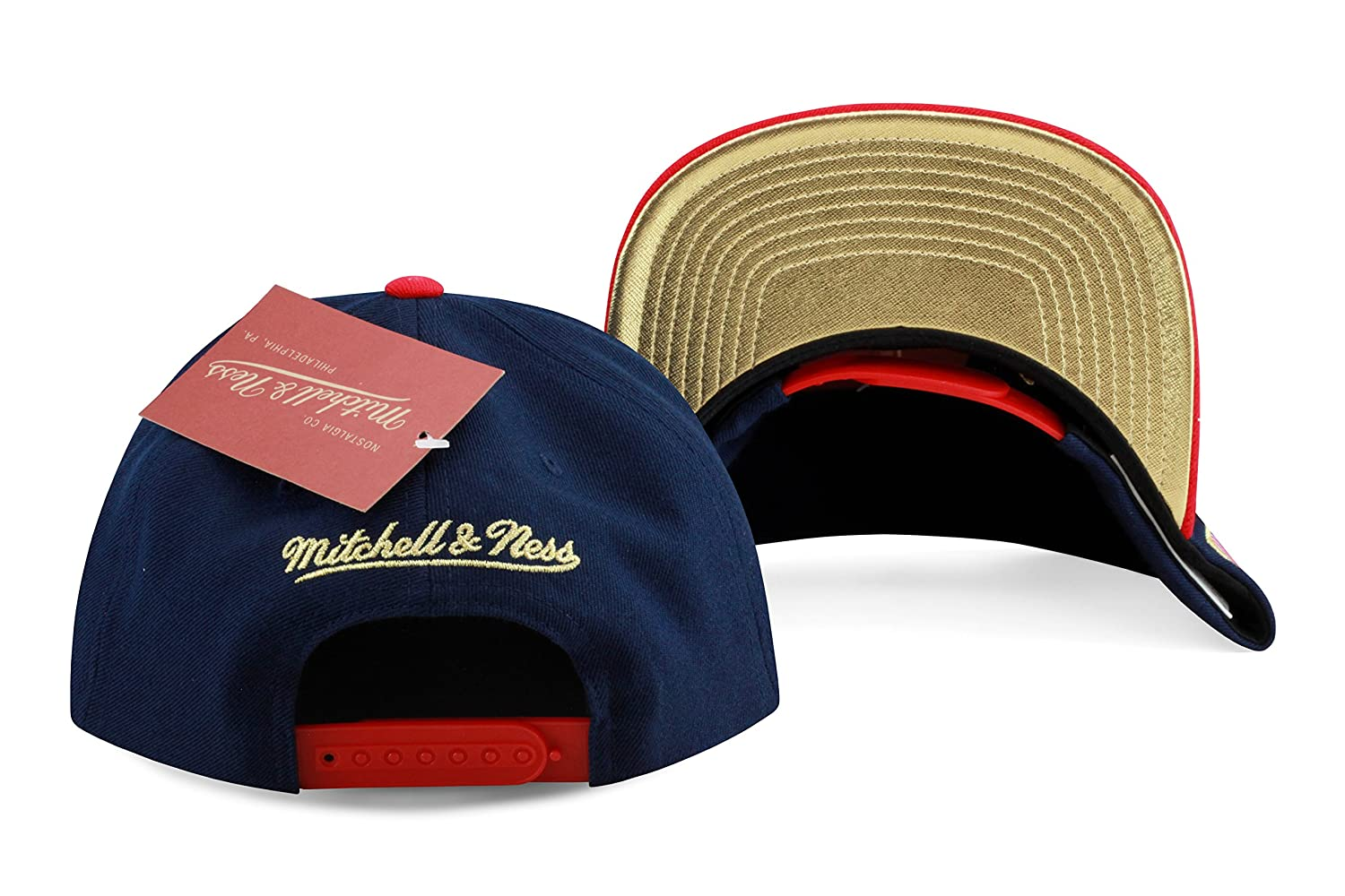 online store 331d4 58029 ... get amazon mitchell ness brooklyn nets usa hi crown snapback in navy  red size o s clothing