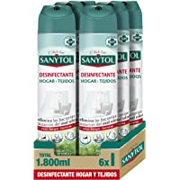 Sanytol Ambientador Desinfectante de Tejidos en Spray 240 g - Pack de 6